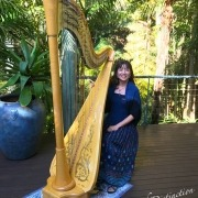 Wedding Harpist with Brisbane Celebrant