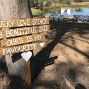 Wedding Ceremony Sign with Celebrant Brisbane
