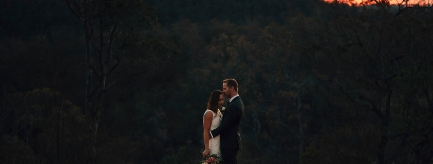 Prerston Peak Toowoomba Sunset Wedding Picture with Brisbane Celebrant