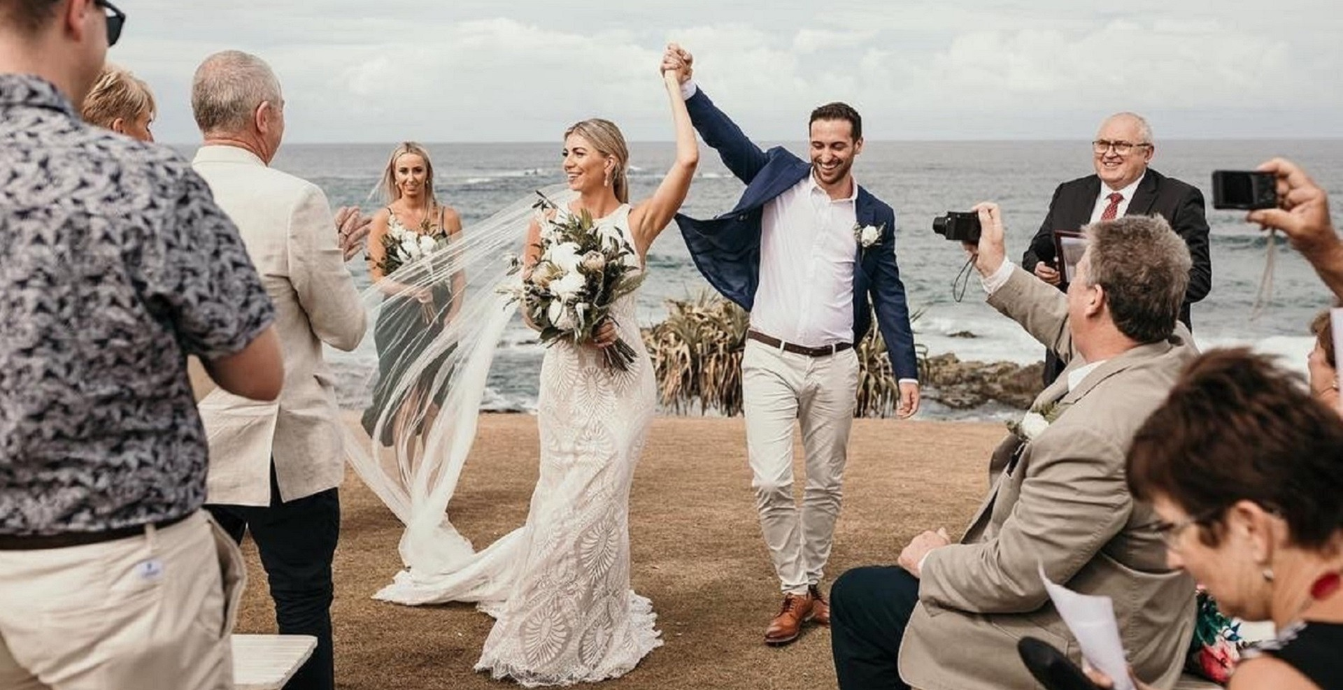 Pagan and Andrew's Beach Wedding with Michael Janz Brisbane Celebrant